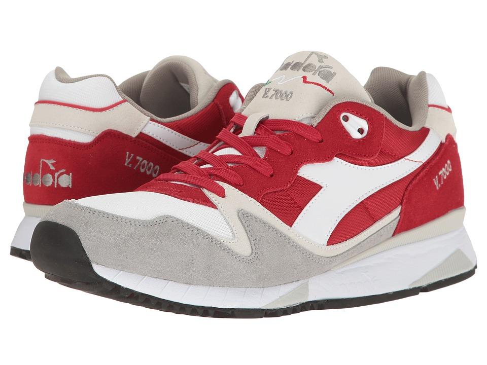 Diadora V7000 NYL II (Pompeian Red/Paloma) Athletic Shoes