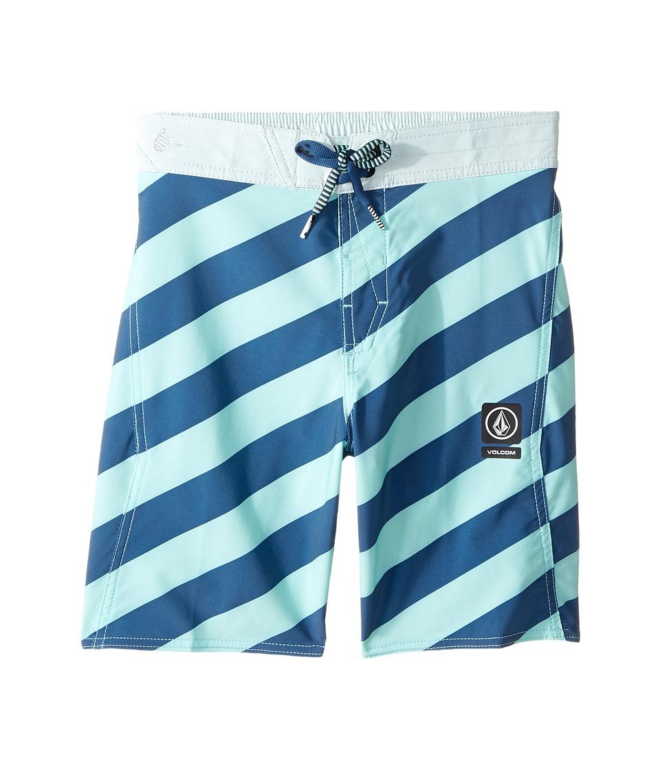 Volcom Kids - Stripey Elastic Boardshorts (Little Kids/Big Kids) (Ice Green) Boy's Swimwear