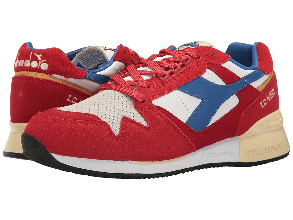 Diadora - I.C. 4000 Premium (Pompeian Red/Nautical Blue) Athletic Shoes