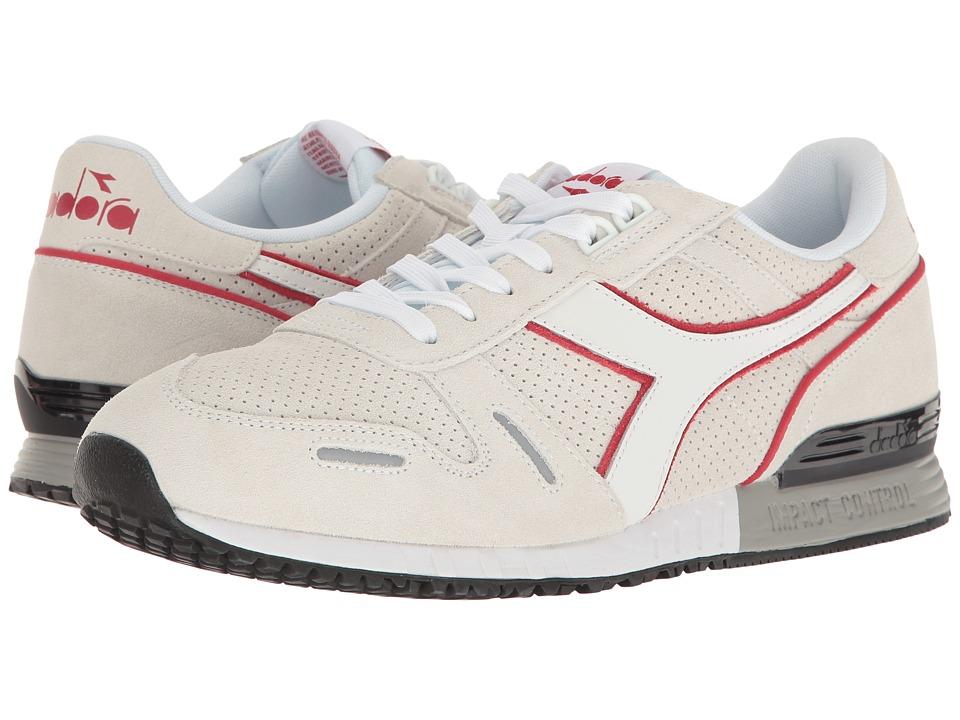 Diadora - Titan Premium (White/Chili Pepper) Athletic Shoes