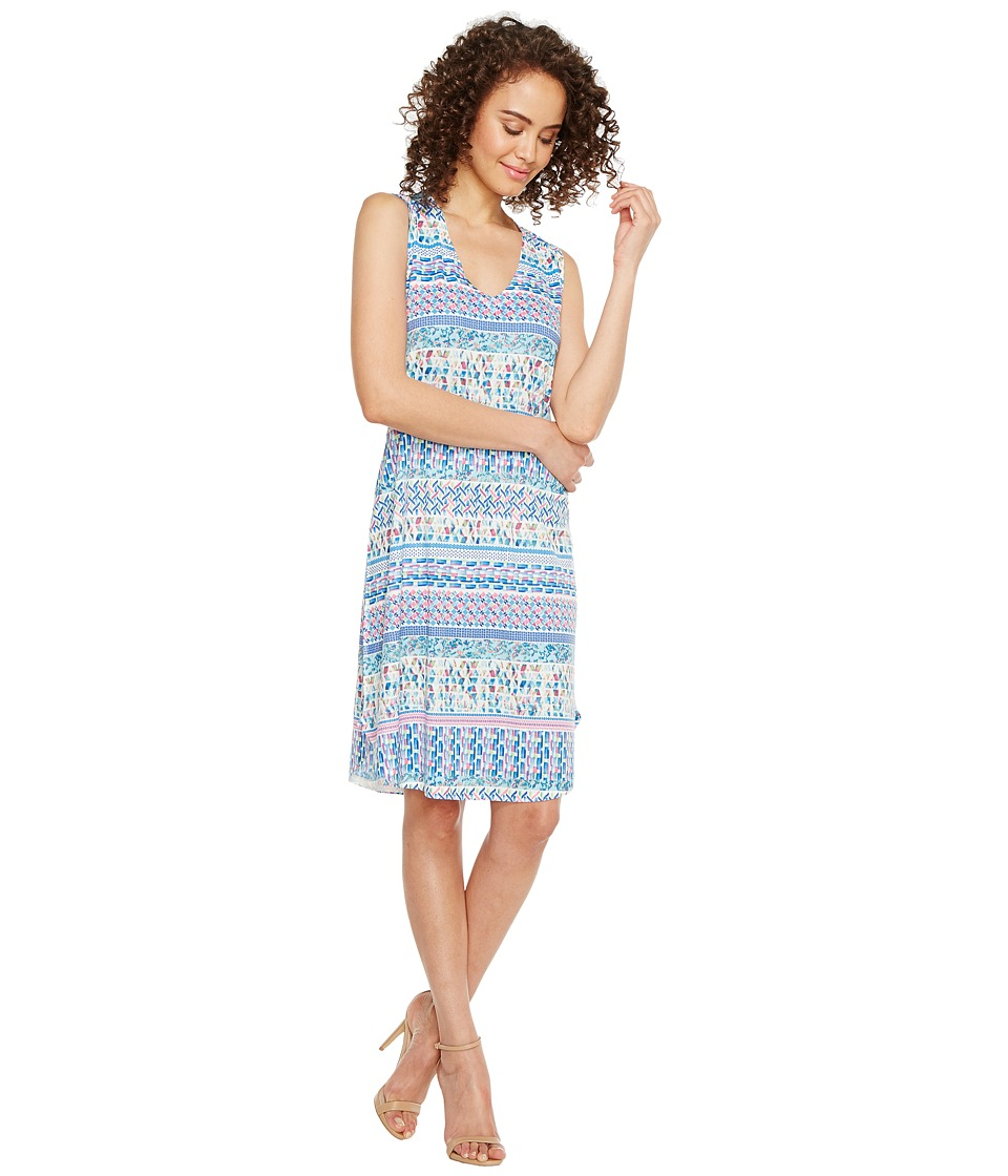 Nally & Millie - Ikat Stripe Print Dress (Multi) Women's Dress
