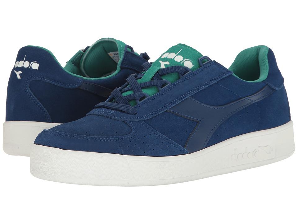 Diadora B.Elite Suede (Estate Blue/Porcelain Grey) Athletic Shoes