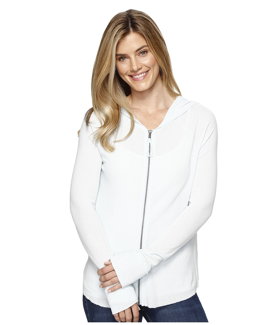 Dylan by True Grit - Vintage Baby Solid Thermal Zip Hoodie (Pale Pool) Women's Sweatshirt