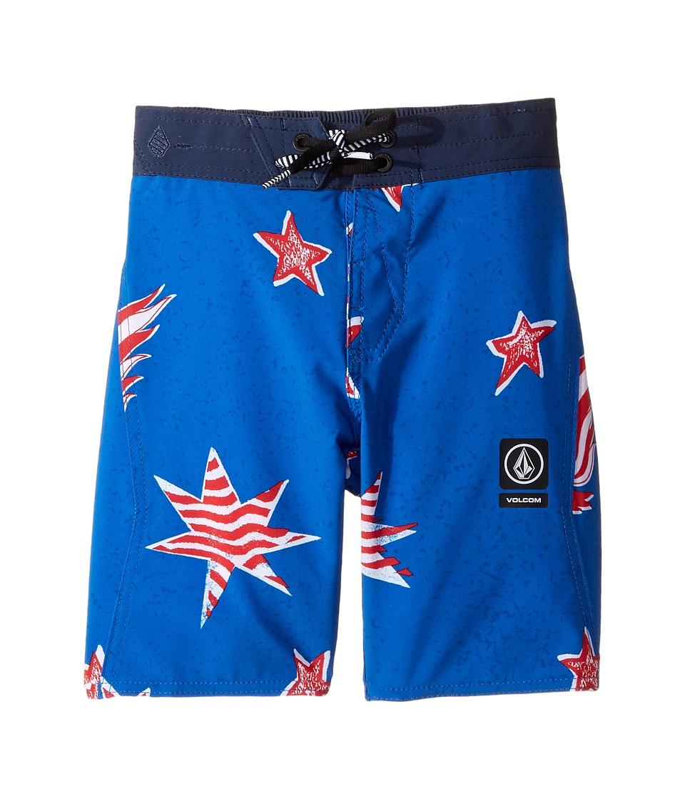 Volcom Kids Freedom Elastic Boardshorts (Little Kids/Big Kids) (Blue True) Boy