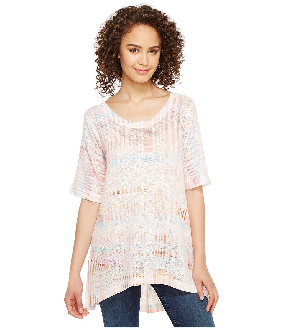 Nally & Millie - Stripe Printed Knit Tunic (Multi) Women's Blouse