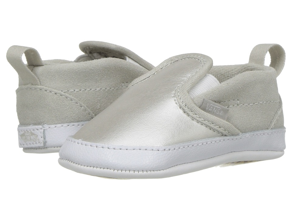Vans Kids Slip-On V Crib (Infant/Toddler) (Metallic) Girls Shoes