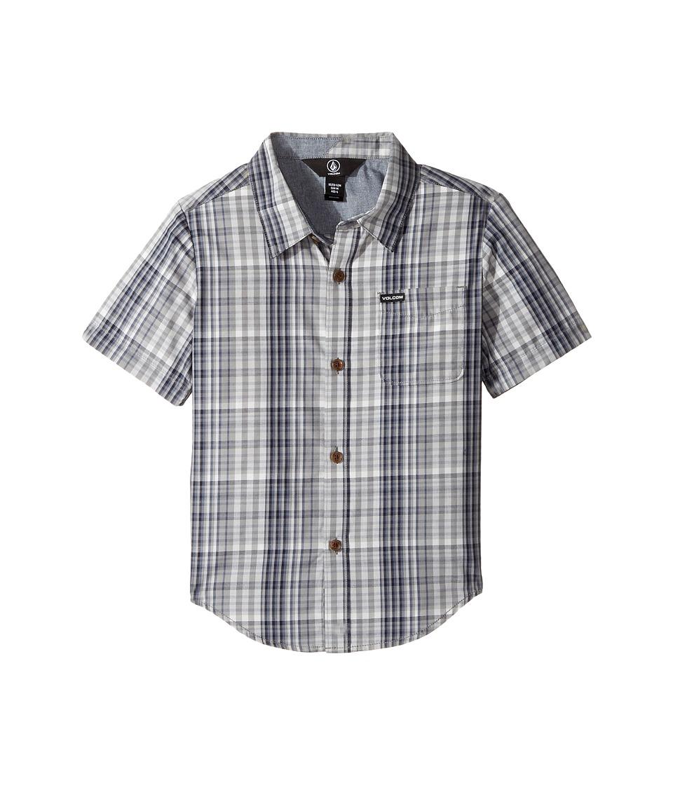 Volcom Kids - Hugo Short Sleeve Shirt (Toddler/Little Kids) (Grey) Boy's Short Sleeve Button Up