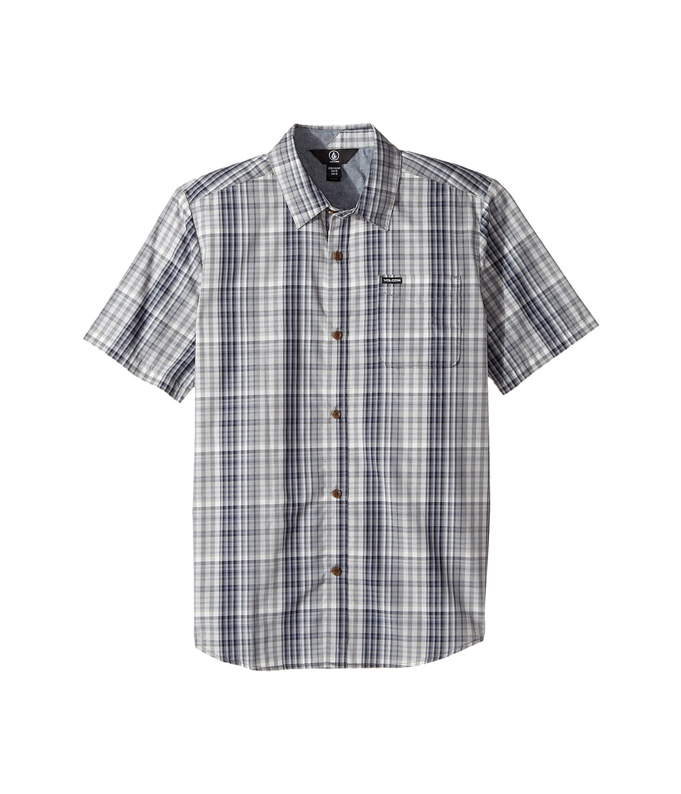 Volcom Kids - Hugo Short Sleeve Shirt (Big Kids) (Grey) Boy's Short Sleeve Button Up