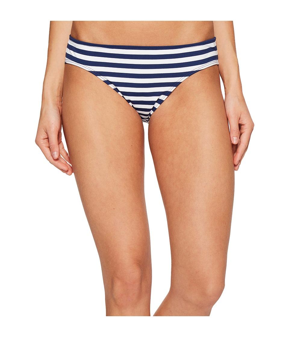 LAUREN Ralph Lauren - Chic Striped Hipster Bottom (Navy/White) Women's Swimwear