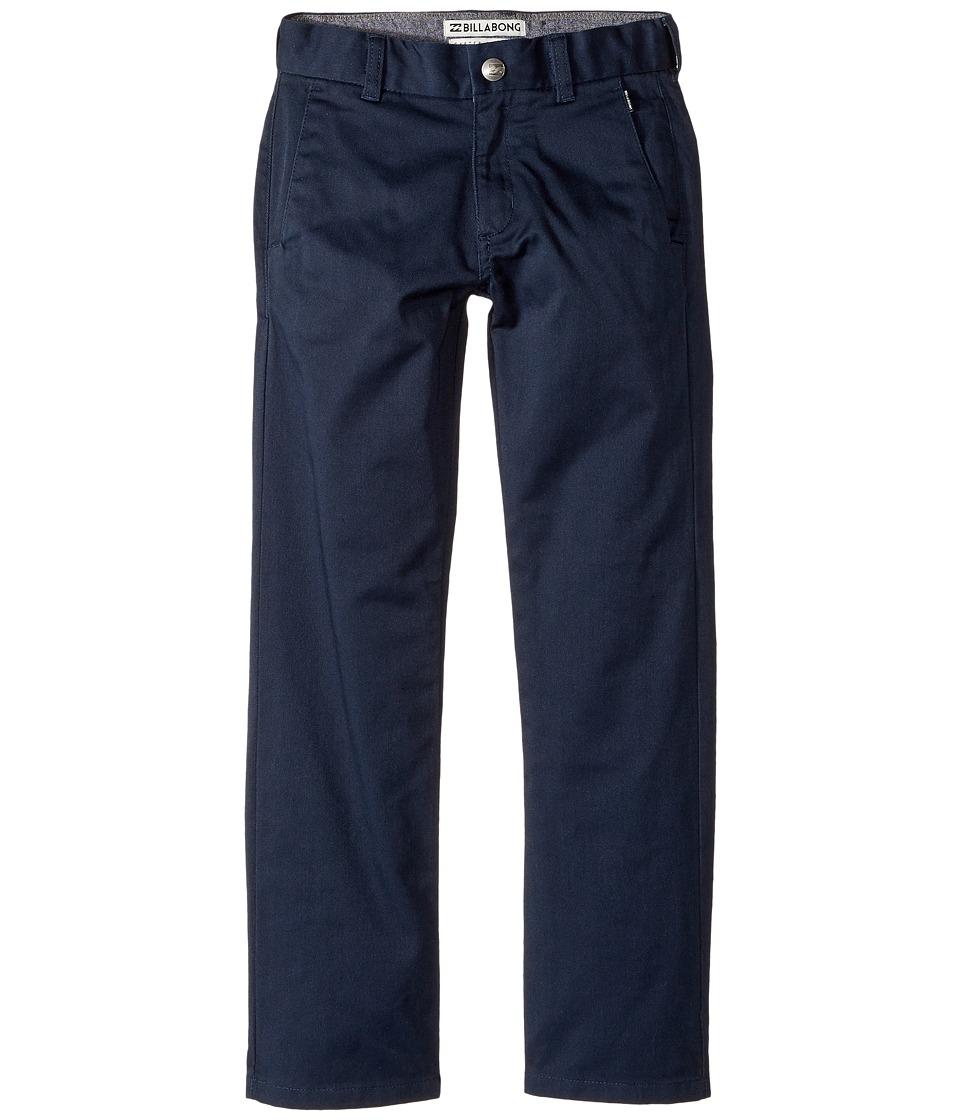 Billabong Kids - Carter Chino Stretch Pants (Toddler/Little Kids) (Navy) Boy's Casual Pants