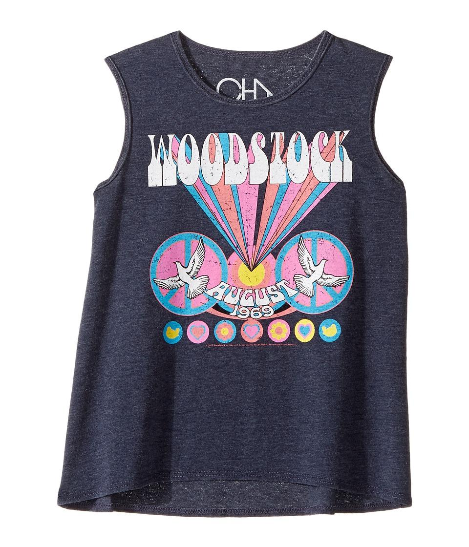 Chaser Kids - Woodstock August 1969 Tank Top (Toddler/Little Kid) (Avalon) Girl's Sleeveless