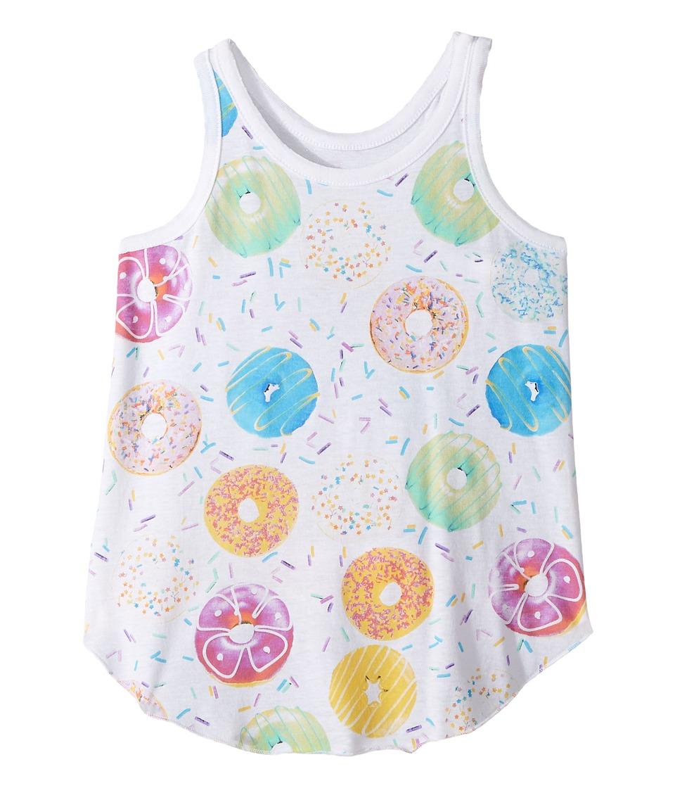Chaser Kids - Donuts Tank Top (Little Kids/Big Kids) (White) Girl's Sleeveless