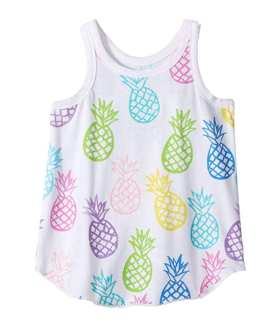 Chaser Kids - Pineapple Pop Tank Top (Toddler/Little Kids) (White) Girl's Sleeveless