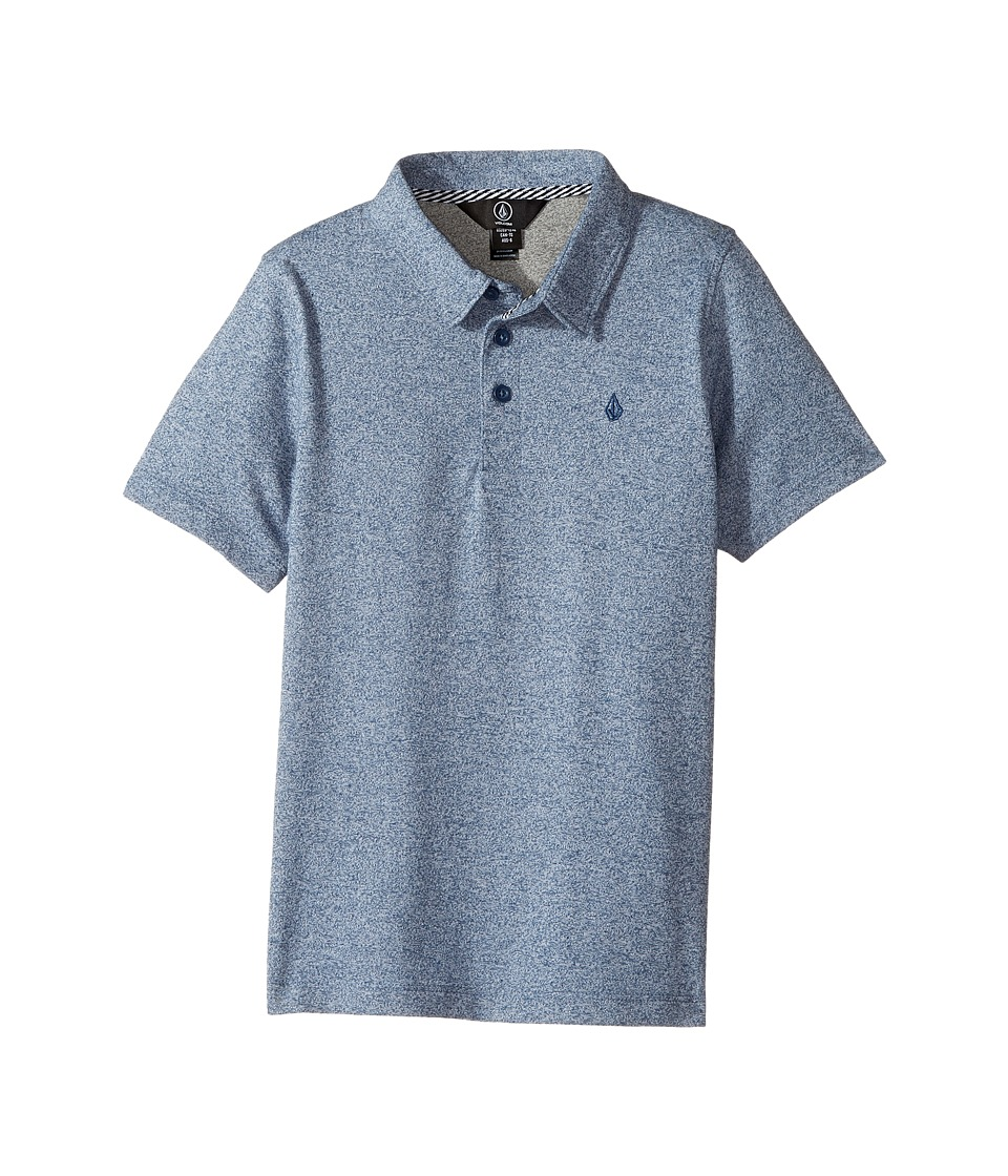 Volcom Kids - Wowzer Polo Top (Toddler/Little Kids) (Blue Smoke) Boy's Short Sleeve Pullover
