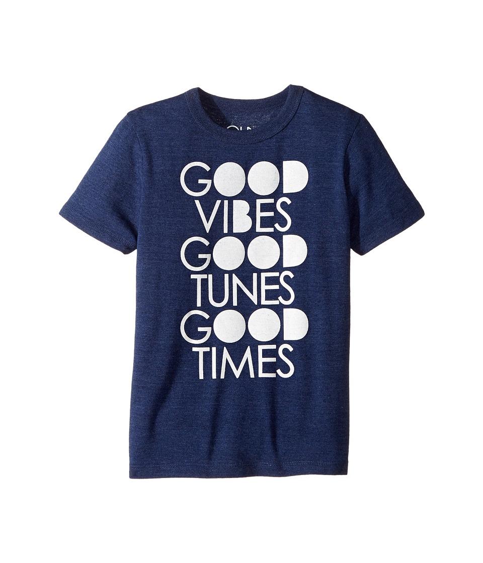 Chaser Kids - Good Vibes Tee (Little Kids/Big Kids) (Sapphire) Boy's T Shirt