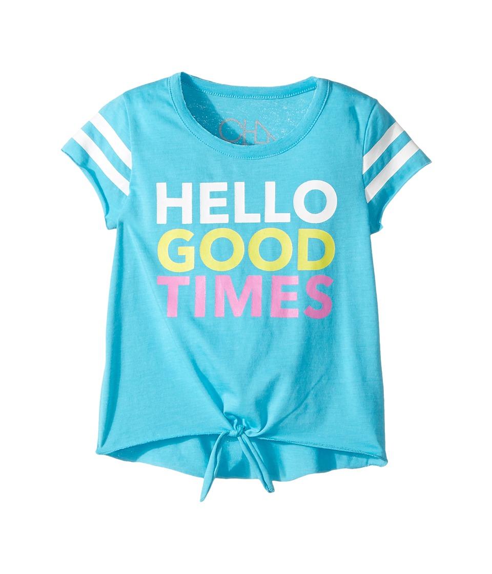 Chaser Kids - Hello Good Times Tee (Toddler/Little Kids) (Bali) Girl's T Shirt