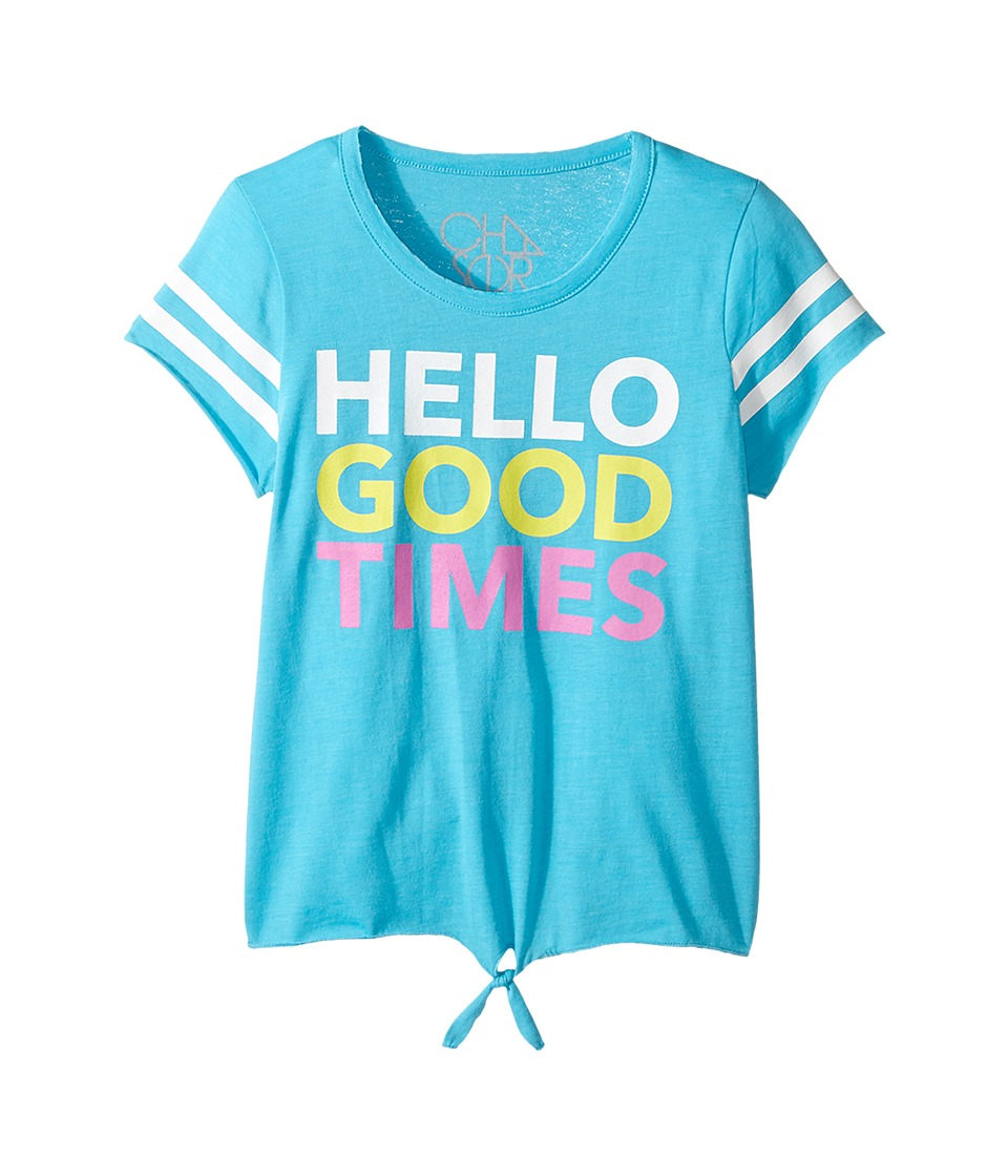 Chaser Kids - Hello Good Times Tee (Little Kids/Big Kids) (Bali) Girl's T Shirt