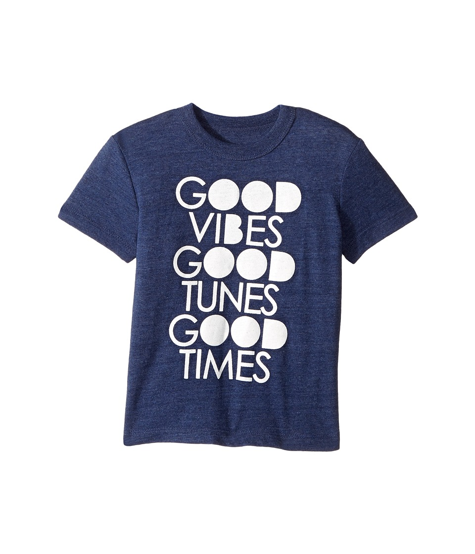 Chaser Kids - Good Vibes Tee (Toddler/Little Kids) (Sapphire) Boy's T Shirt