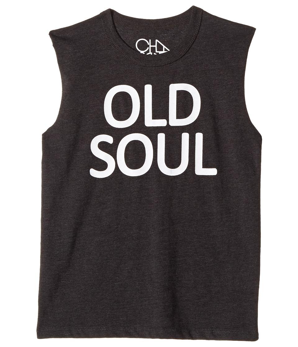 Chaser Kids - Old Soul Muscle Tank (Toddler/Little Kids) (White/Black) Boy's Sleeveless
