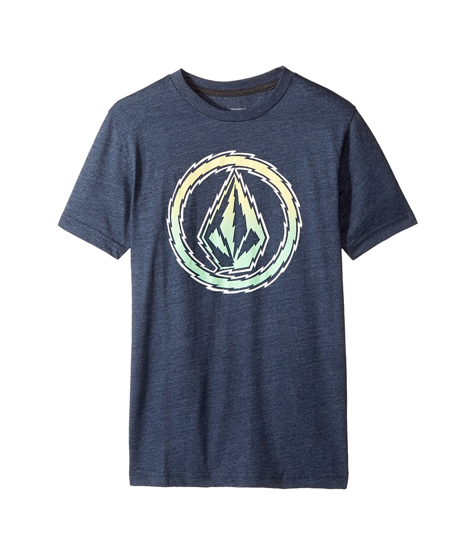 Volcom Kids - Buzz Stone Short Sleeve Tee (Big Kids) (Indigo) Boy's T Shirt