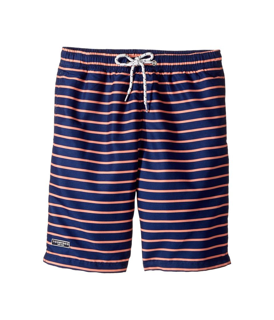 Toobydoo - Orange Navy Swimsuit - Regular (Infant/Toddler/Little Kids/Big Kids) (Navy/Orange) Boy's Swimwear