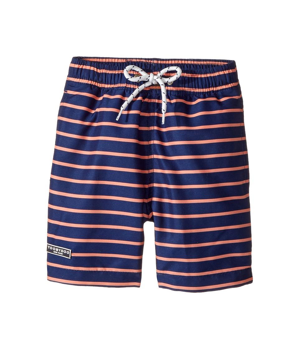 Toobydoo - Orange Navy Swimsuit - Short (Infant/Toddler/Little Kids/Big Kids) (Navy/Orange) Boy's Swimwear