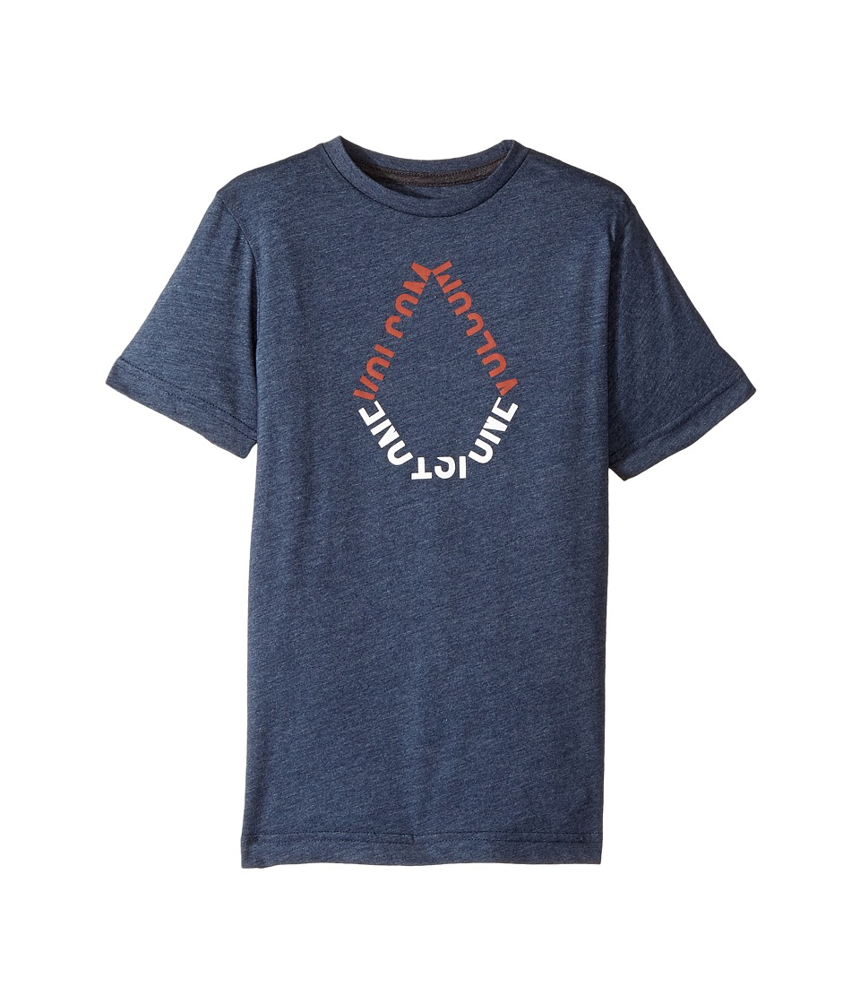Volcom Kids - Stone Chop Short Sleeve Tee (Toddler/Little Kids) (Indigo) Boy's T Shirt
