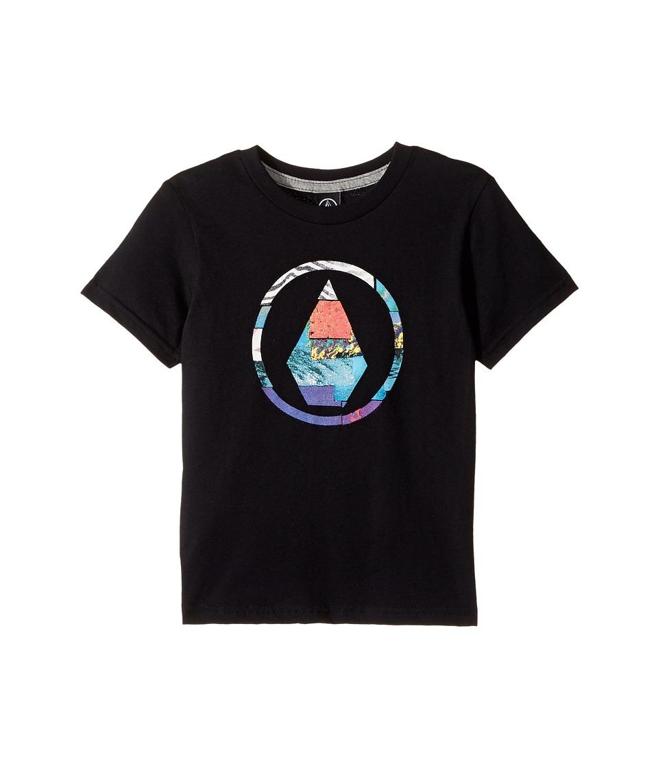 Volcom Kids - Magnetic Stone Short Sleeve Tee (Toddler/Little Kids) (Black) Boy's T Shirt