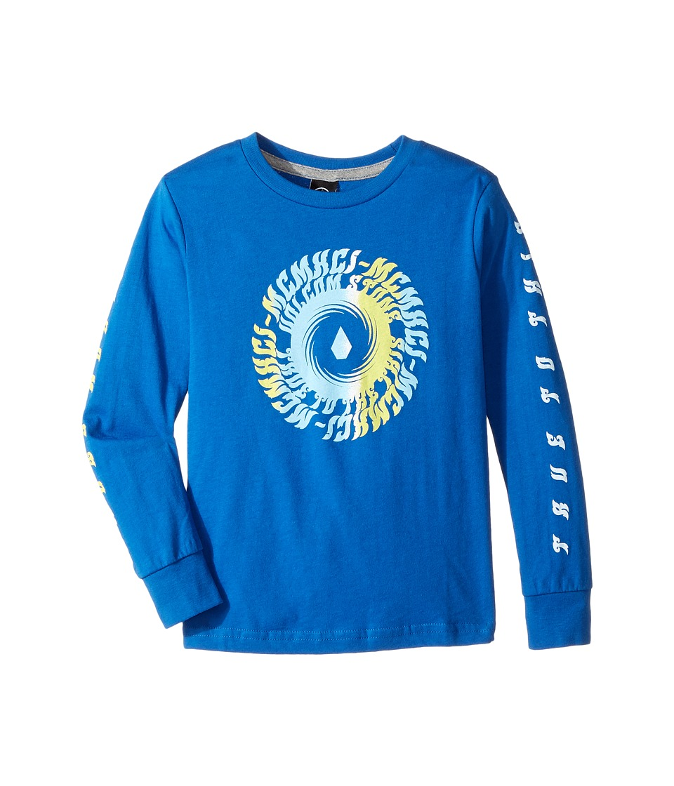 Volcom Kids - Stone Tide Long Sleeve Tee (Toddler/Little Kids) (Blue True) Boy's T Shirt