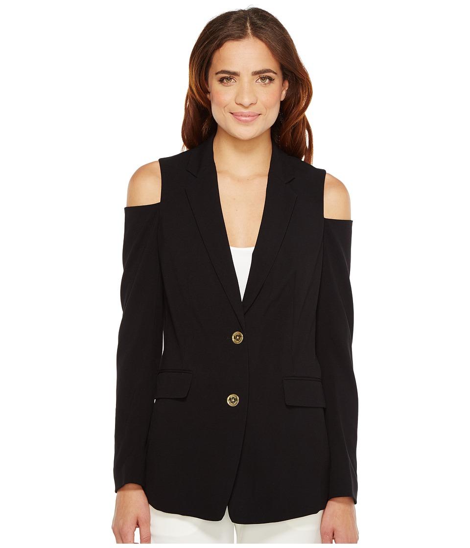 MICHAEL Michael Kors - Cold Shoulder Blazer (Black) Women's Jacket
