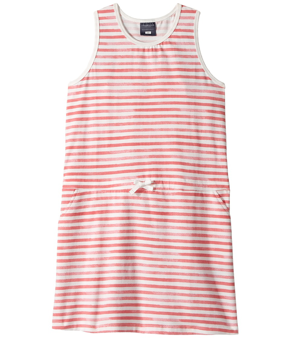 Toobydoo Red White Stripe Beach Cover-Up (Toddler/Little Kids/Big Kids) (Red/White) Girl