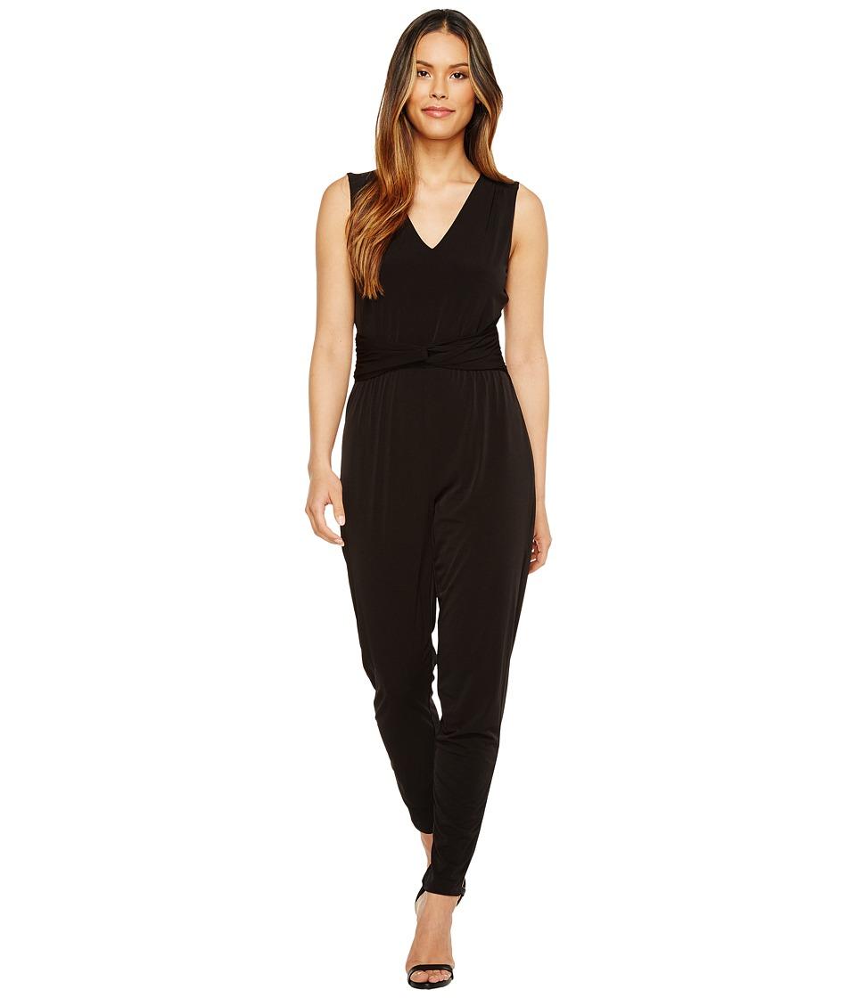 MICHAEL Michael Kors - Sleeveless Waist Twist Jumpsuit (Black) Women's Jumpsuit & Rompers One Piece