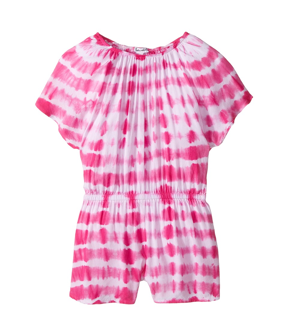 Splendid Littles - Tie-Dye Romper (Little Kids) (Hot Pink) Girl's Jumpsuit & Rompers One Piece