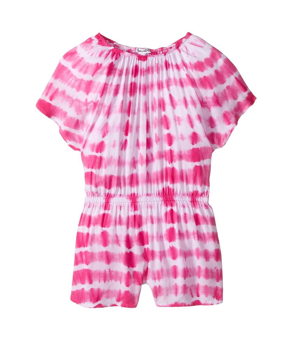 Splendid Littles - Tie-Dye Romper (Little Kids) (Hot Pink) Girl's Jumpsuit & Rompers One Piece