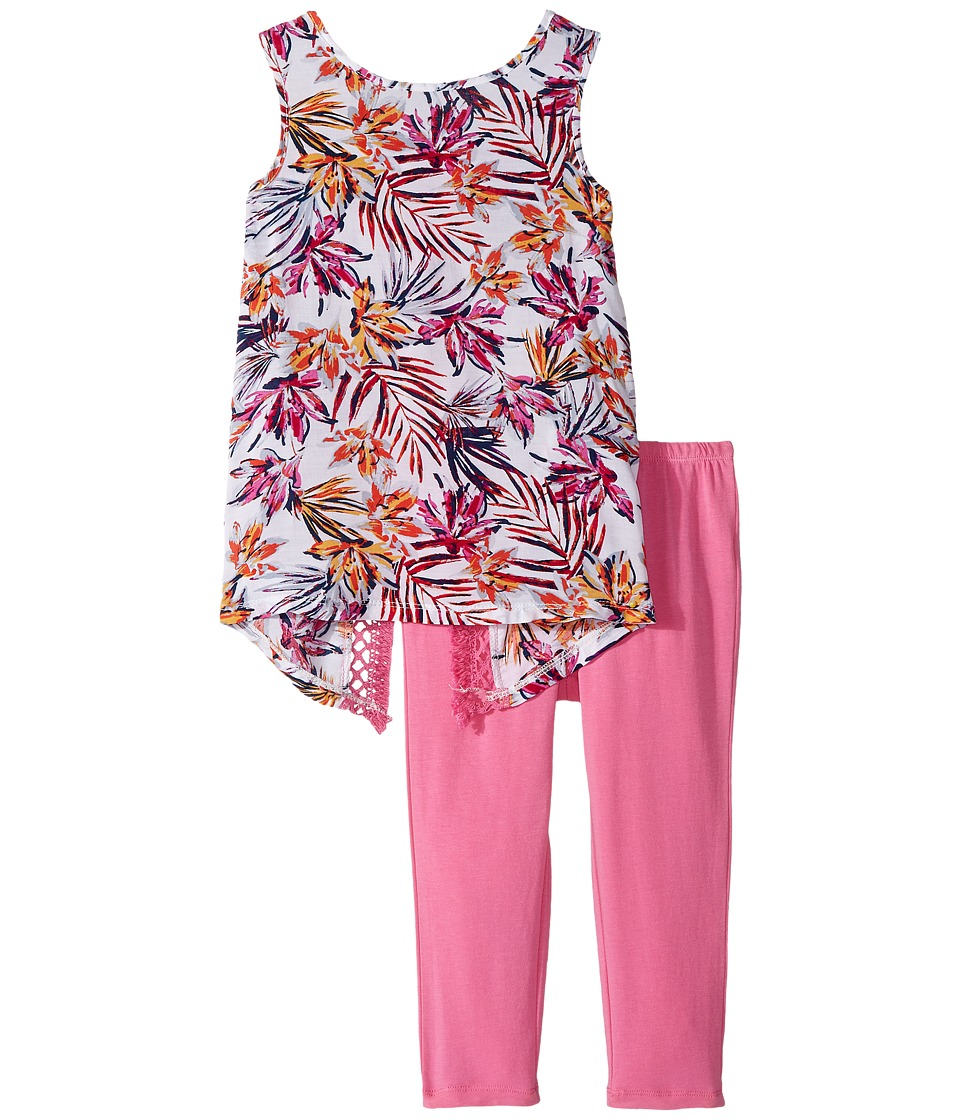 Splendid Littles - All Over Print Fringe Trim Set (Little Kids) (Hot Pink) Girl's Active Sets