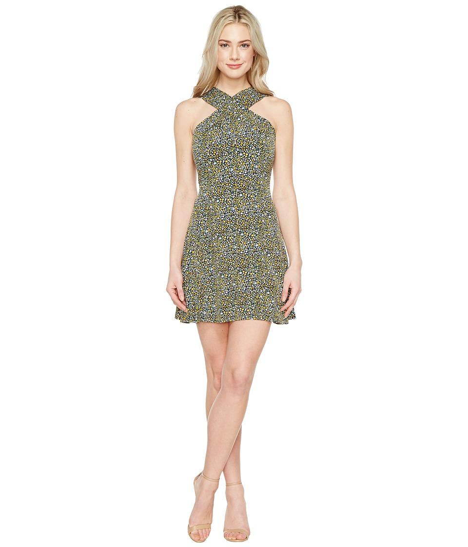 MICHAEL Michael Kors - Quinn Cross Neck Dress (Taxi Yellow) Women's Dress