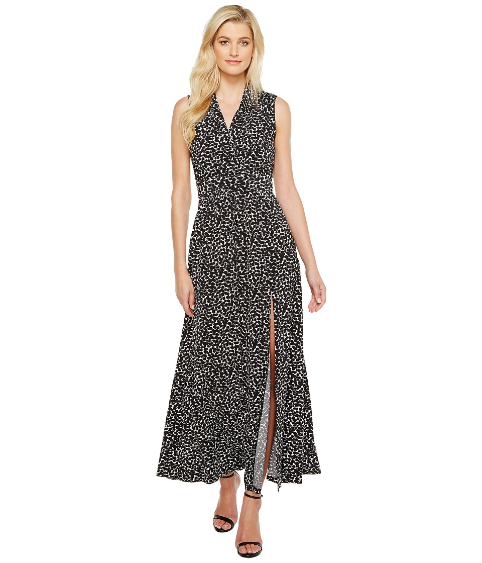 MICHAEL Michael Kors Mini Finy Slit Maxi Dress (Black) Women