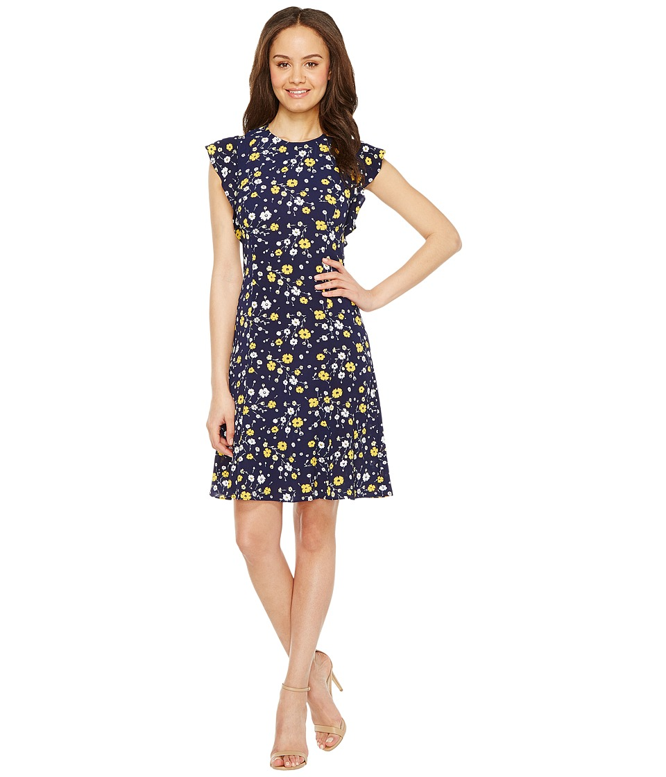MICHAEL Michael Kors - Verbena Flounce Sleeve Dress (Taxi Yellow) Women's Dress
