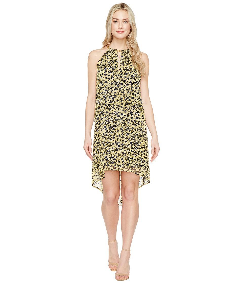 MICHAEL Michael Kors - Lydia Chain Neck Dress (Taxi Yellow) Women's Dress