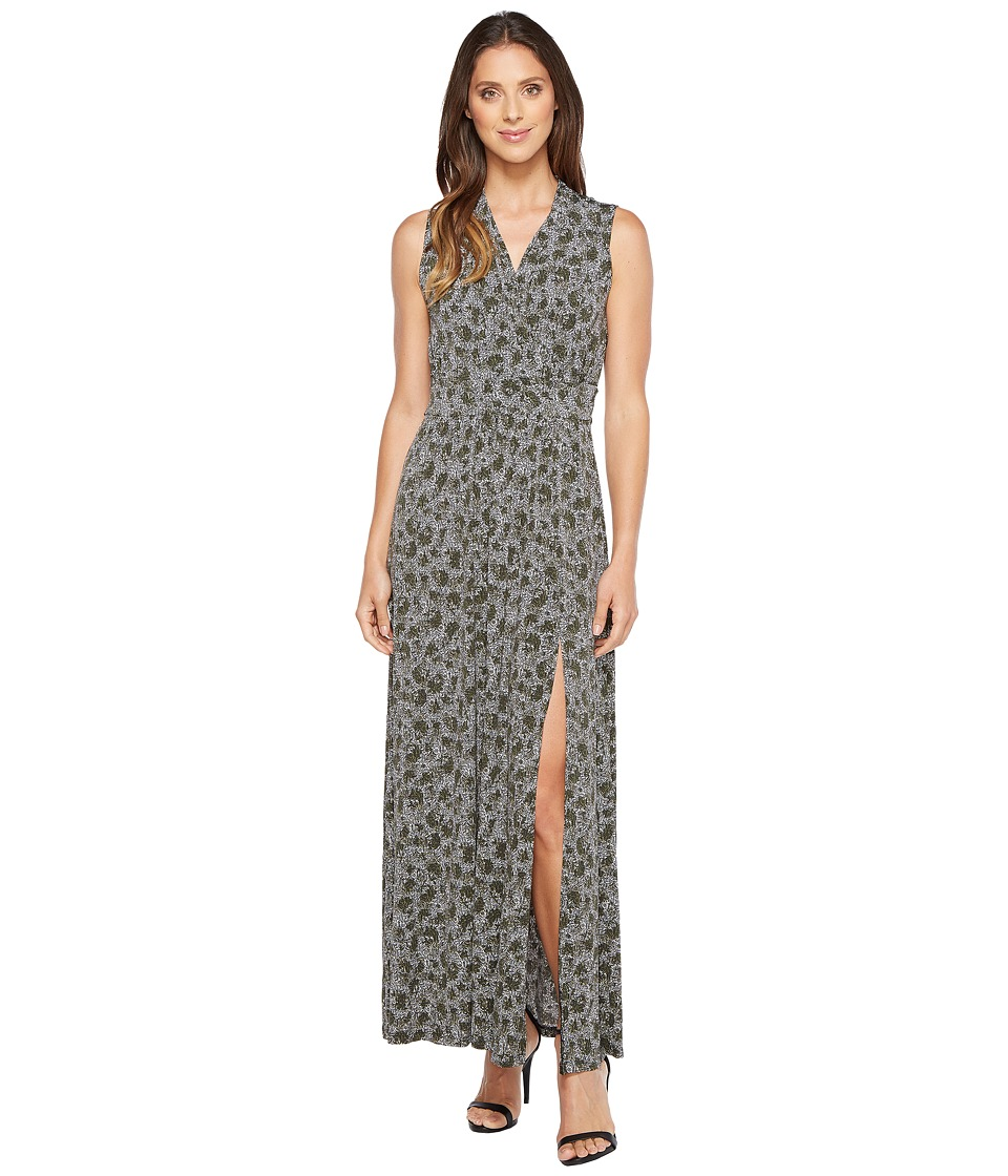 MICHAEL Michael Kors Augusta Slit Maxi Dress (Safari Green) Women