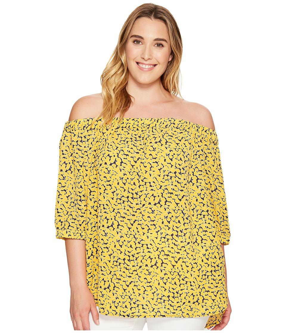 MICHAEL Michael Kors - Plus Size Mini Finley Off Shoulder Top (Taxi Yellow) Women's Clothing