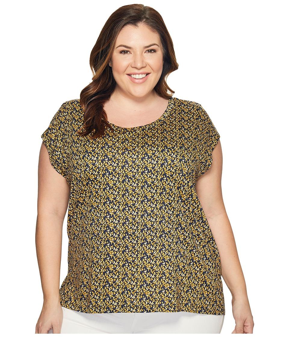 MICHAEL Michael Kors - Plus Size Mellora Eliptical Hem Top (Taxi Yellow) Women's Clothing