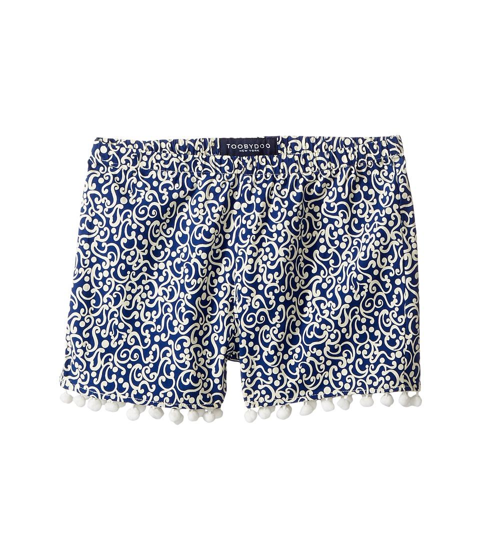Toobydoo - Navy White Pom Pom Shorts (Toddler/Little Kids/Big Kids) (Navy/White) Girl's Shorts