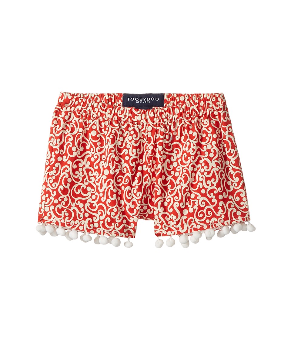 Toobydoo - Red White Pom Pom Shorts (Toddler/Little Kids/Big Kids) (Red/White) Girl's Shorts