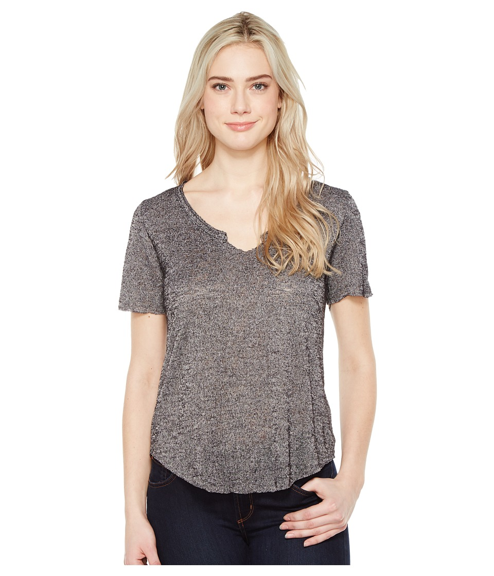 Project Social T - Suzie Shirttail Tee (Charcoal) Women's T Shirt