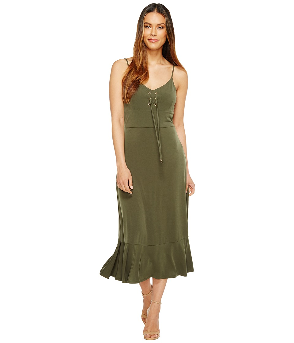 MICHAEL Michael Kors Lacing Slip Dress (Ivy) Women