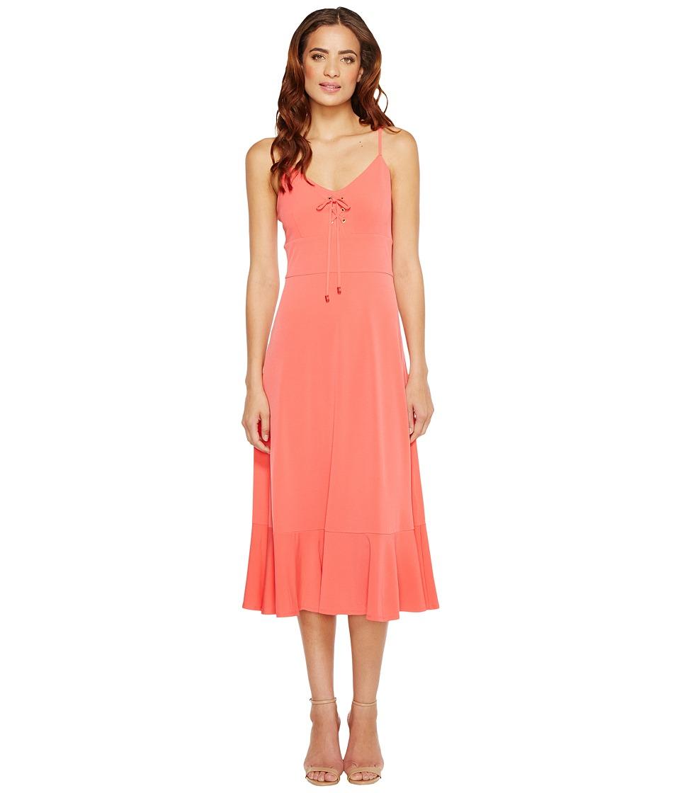 MICHAEL Michael Kors - Lacing Slip Dress (Sangria) Women's Dress