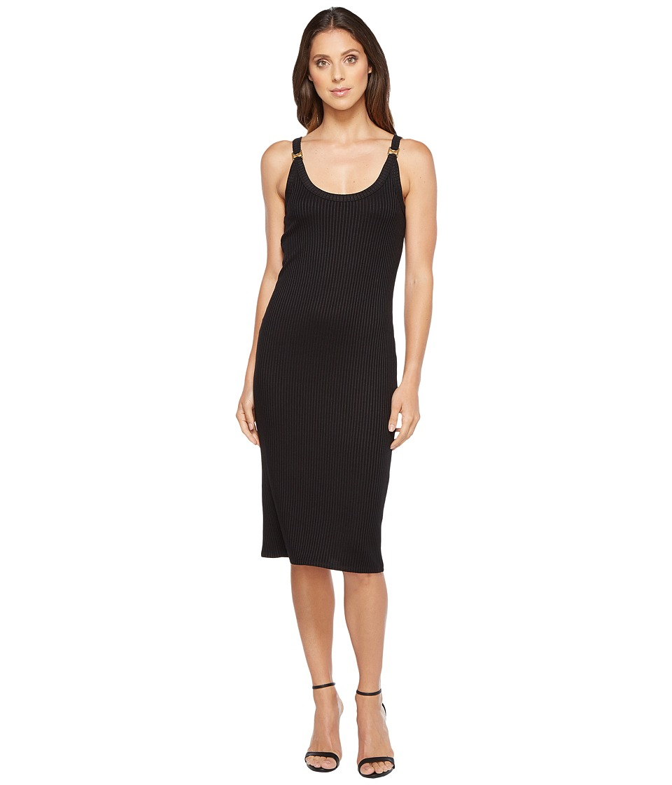 MICHAEL Michael Kors Plated Rib Ring Dress (Black) Women