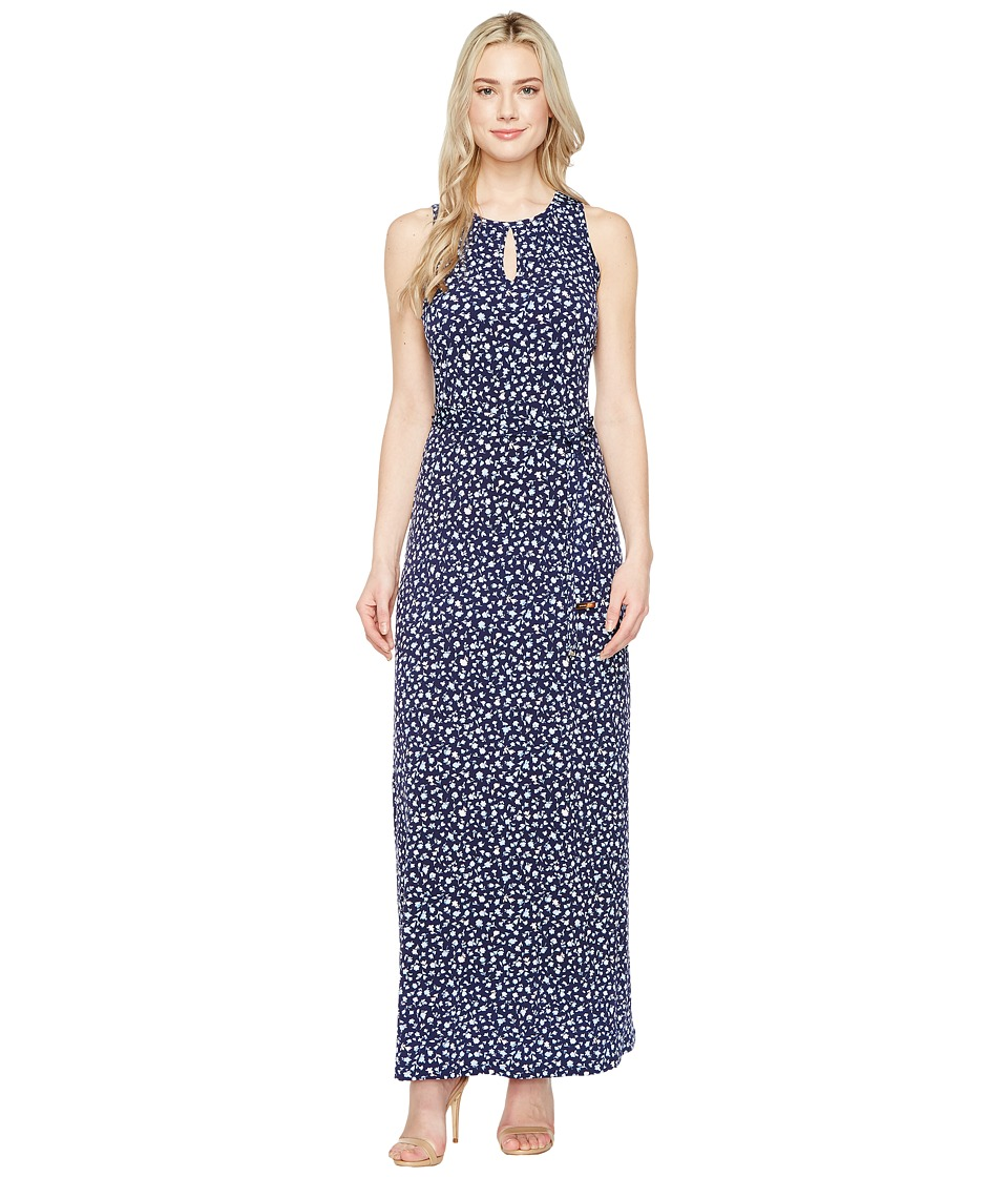 MICHAEL Michael Kors - Clara Print Belted Maxi (Cloud) Women's Dress