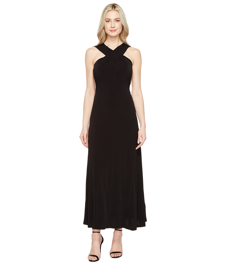 MICHAEL Michael Kors Cross Neck Dress Maxi (Black) Women